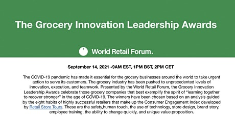 The Grocery Innovation Leadership Awards tickets
