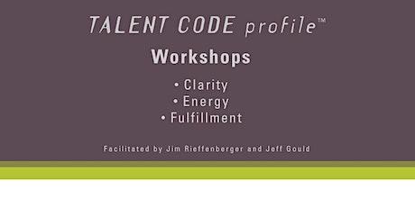 Talent Code Profile™  - 1st Quarter of Life Workshop tickets