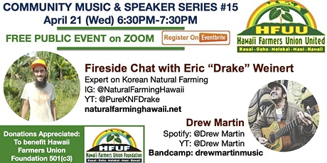 """Fireside chat with Eric """"Drake"""" Weinert Jr with Music by Drew Martin tickets"""