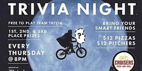 Free Trivia! Thursdays at Cruisers NB tickets