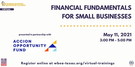 Financial Fundamentals for Small Businesses tickets