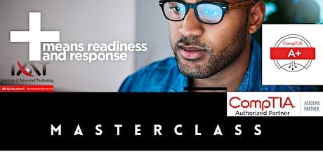 Gratis- MasterClass CompTIA A+ bilhetes