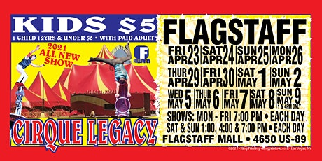VIP 5 Person Pod Cirque Legacy in Flagstaff, AZ tickets