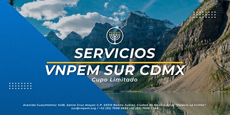 VNPEM Sur CDMX 2 Servicios Domingo 18 de Abril boletos