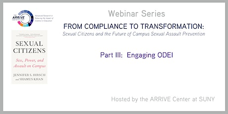 Part III:  From Compliance to Transformation (Engaging ODEI) tickets