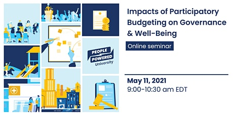 Impacts of Participatory Budgeting on Governance & Well-Being tickets