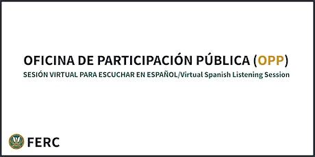 OFICINA DE PARTICIPACIÓN PÚBLICA SESIÓN VIRTUAL PARA ESCUCHAR EN ESPAÑOL entradas
