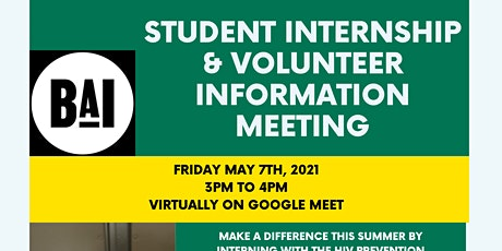 Student Internship & Volunteer Interest Meeting tickets