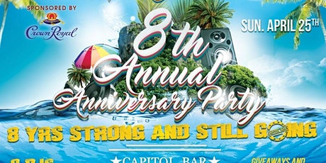 Capitol Sundaze 8th Annual Anniversary Party Sponsored by Crown Royal tickets