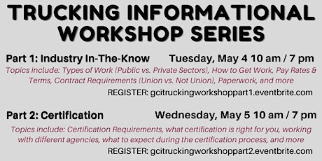 Trucking Informational Workshop Series: Certification Breakdown (Part 2) tickets