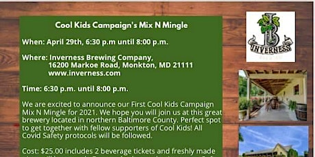 Cool Kids Campaign's Mix N Mingle tickets
