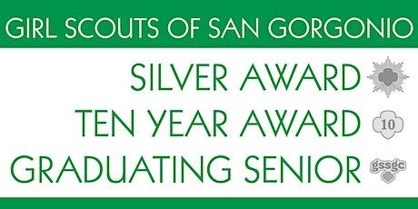 GSSGC Central Region Silver Award, 10 Year Award, Graduating Senior tickets