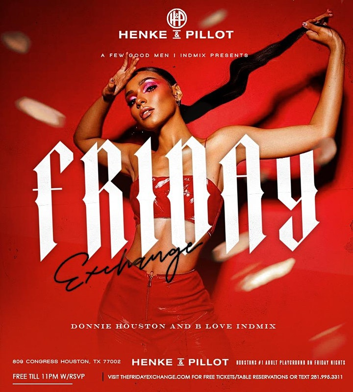 Friday Exchange at Henke & Pillot:Best of 90's 00's Hip Hop|R&B|The Hit image