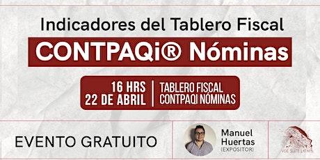 Indicadores del tablero fiscal  CONTPAQi® Nóminas entradas