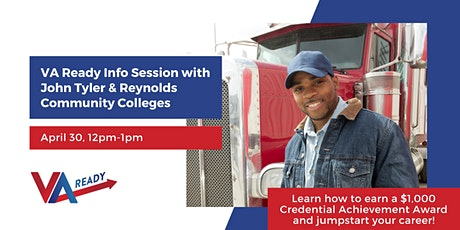 VA Ready Info Session with John Tyler & Reynolds Community Colleges tickets