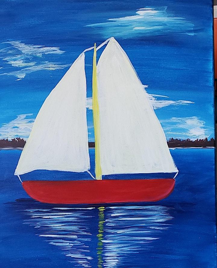 Sail Boat on the Bay image