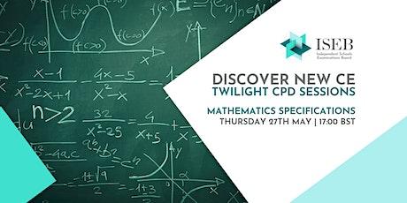 Twilight CPD Sessions | Mathematics tickets