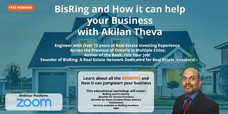 BisRing and How it can help your business with Akilan Theva tickets