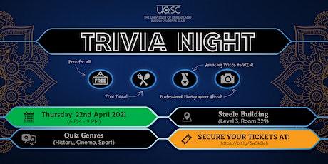 UQISC TRIVIA NIGHT 2021 - PRIZES, PRIZES, PRIZES! tickets