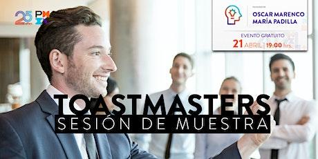 Sesión muestra de Toastmasters bilhetes