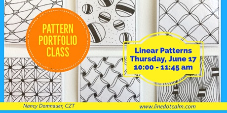 Zentangle® Pattern Portfolio Class June 17 tickets