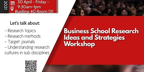 Business School Research Ideas and Strategies Workshop - 30 April 2021 tickets
