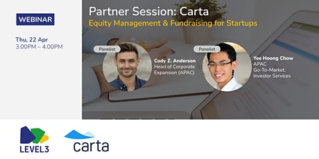 Partner Session: Carta - Equity Management & Fundraising for Startups tickets