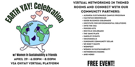 EarthYAY! Celebration with Women in Sustainability & Friends tickets