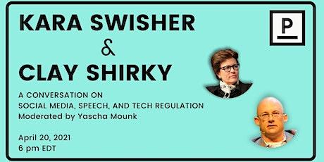 Social Media, Speech, and Tech Regulation: Kara Swisher & Clay Shirky tickets