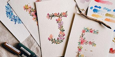 Floral Letters Watercolour Workshop tickets