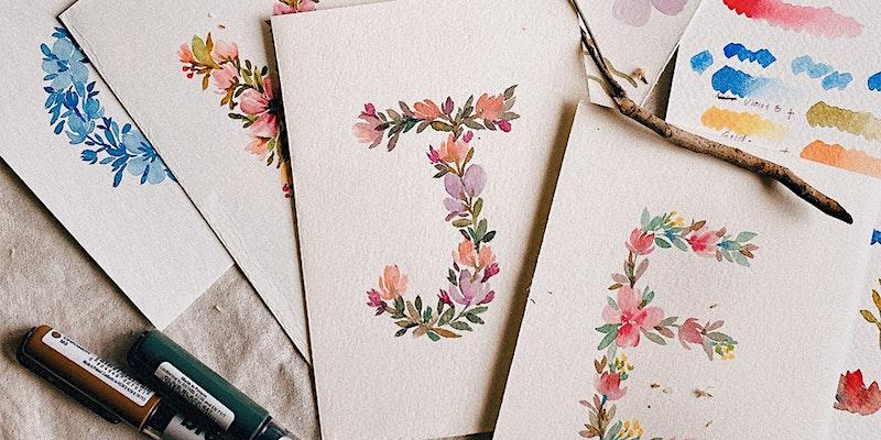 Floral Letters Watercolour Workshop
