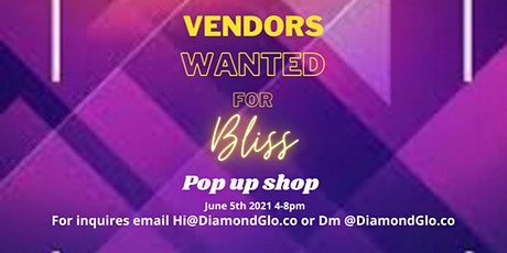 Bliss Pop up shop tickets