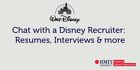 Chat with a Disney Recruiter: Resumes, Interviews & more tickets