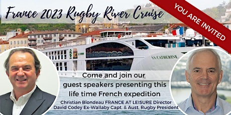 FRANCE 2023 Rugby Cruise presentation registration tickets