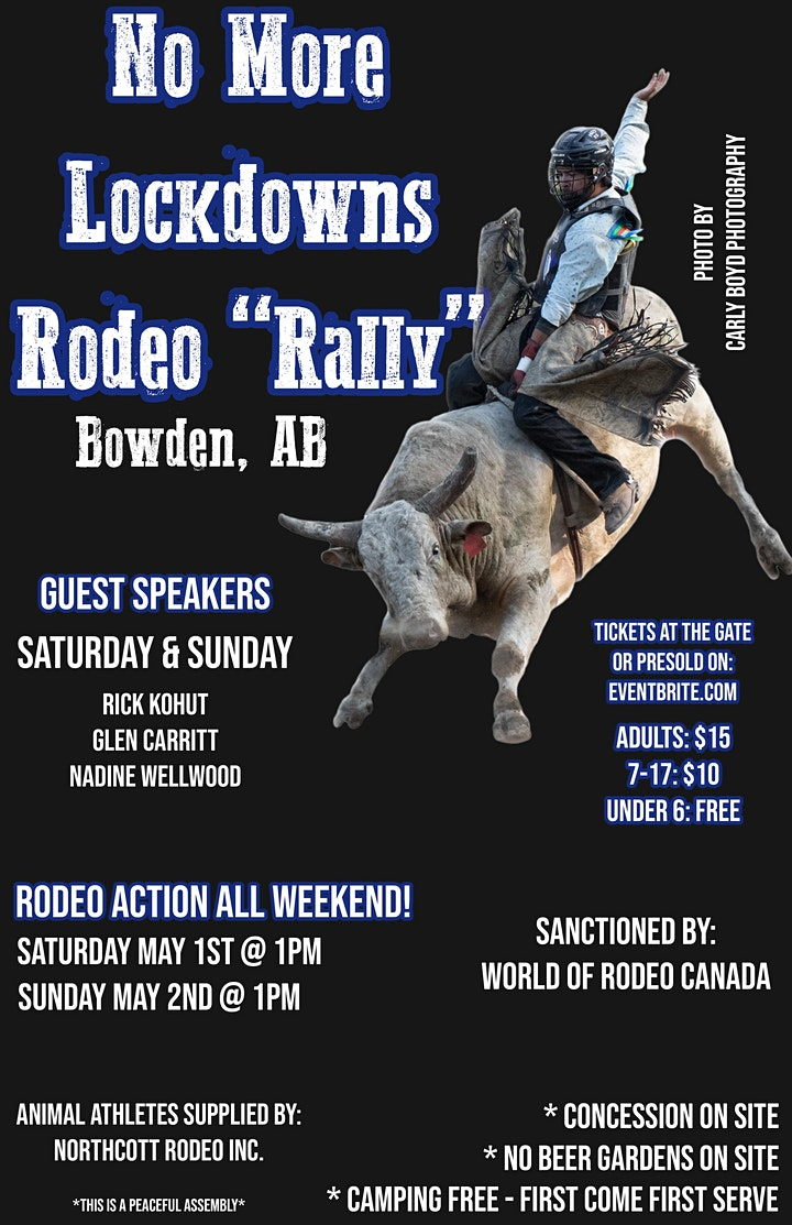 No More Lockdowns Rodeo Rally- Bowden, AB image