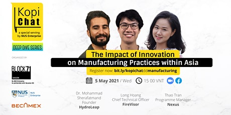 Kopi Chat Deep Dive: Innovation and Sustainable Manufacturing Within Asia tickets