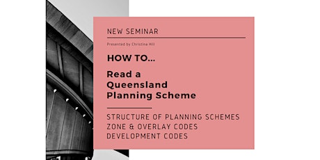 How to Read Queensland Planning Schemes tickets