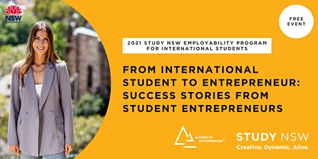 From international student to entrepreneur tickets
