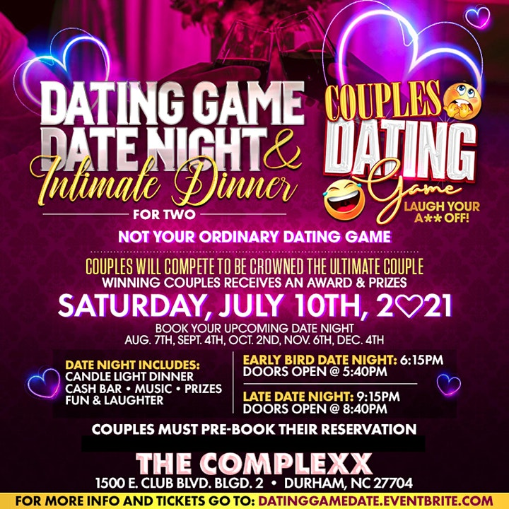 Dating Game Date Night, Intimate Dinner for Two image
