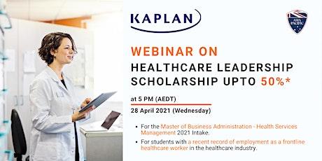 Webinar on Kaplan's Health Management Scholarship tickets