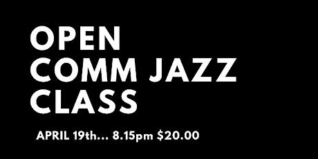 Open Comm Jazz Class tickets