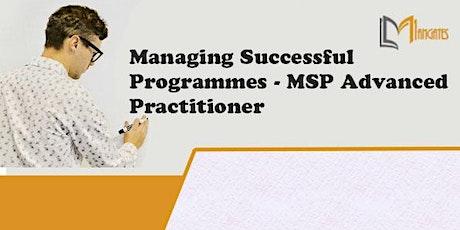 Managing Successful Programmes MSP Advanced 2Day Virtual - Dusseldorf tickets
