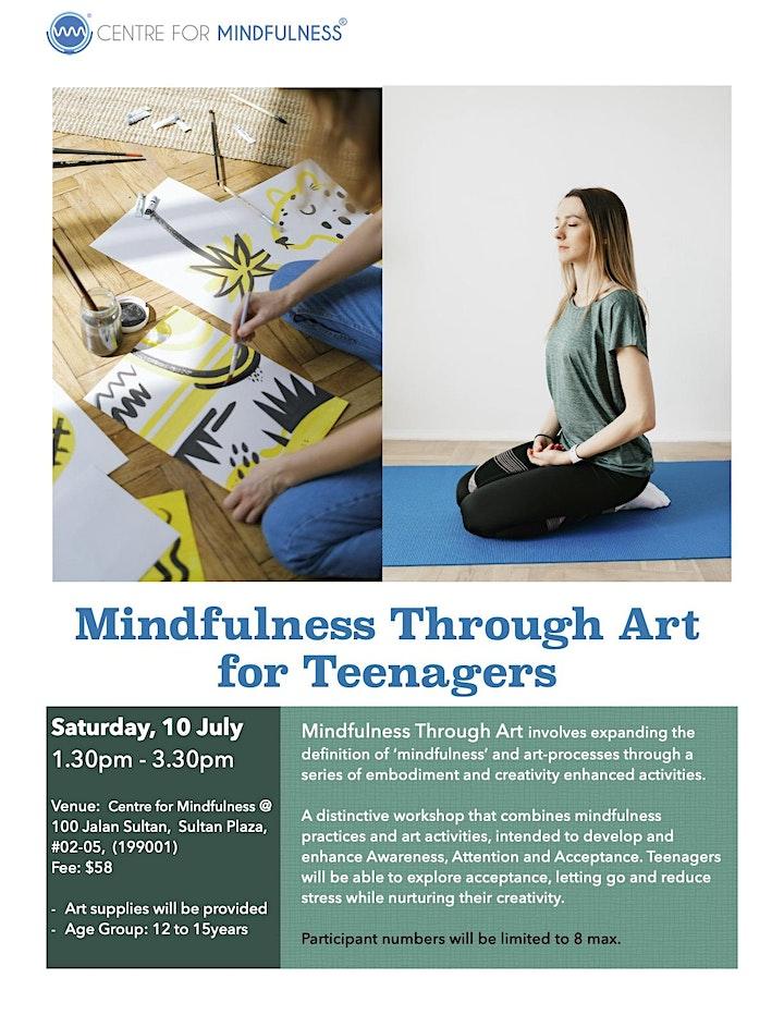 Mindfulness Through Art for Teens (Jul) image