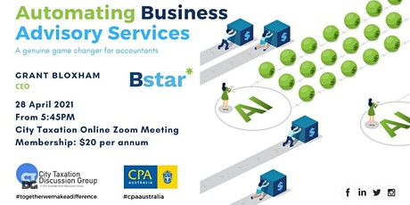 CTDG April 2021 2nd Event - Automating Business Advisory Services tickets