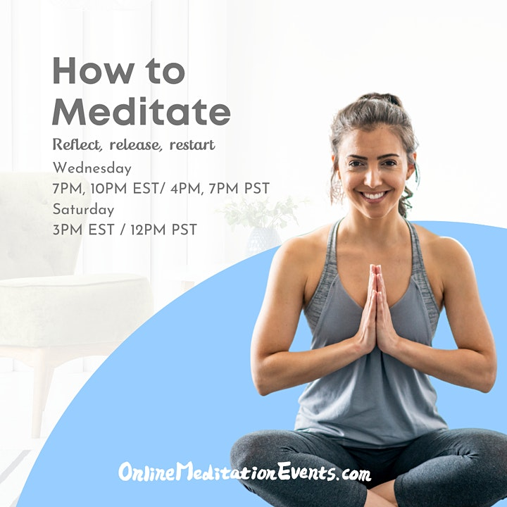 How to Meditate(Live Group Guided Meditation) - Online Meditation Events image