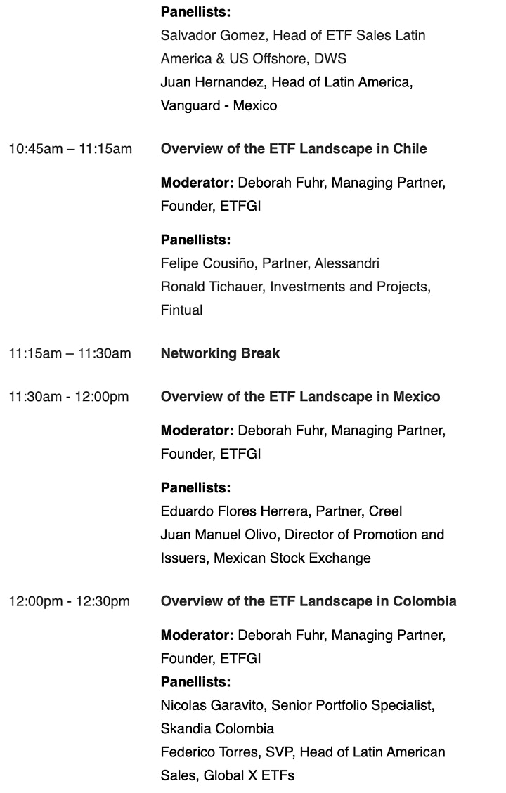 2nd Annual ETFGI Global ETFs Insights Summit - Latin America image
