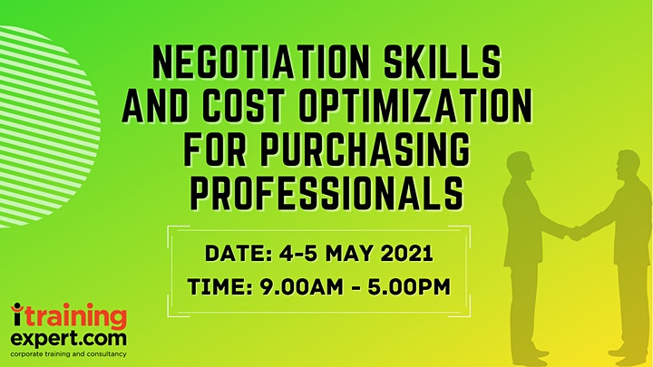 Negotiation Skills and Cost Optimization for Purchasing Professionals image