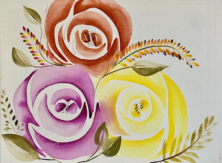 Sip & Paint Watercolour Roses image