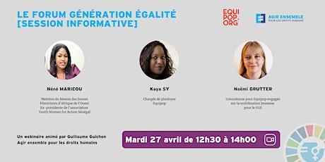 Webinaire :  le Forum Génération égalité [session informative] billets