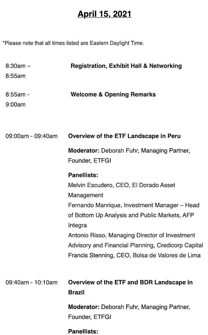 2nd Annual ETFGI Global ETFs Insights Summit - Latin America image